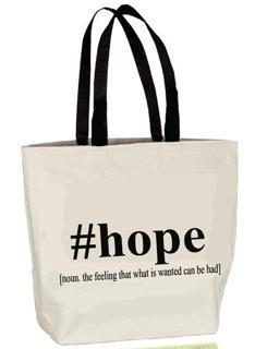 """HOPE"" tote"