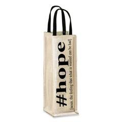 """HOPE"" wine tote"