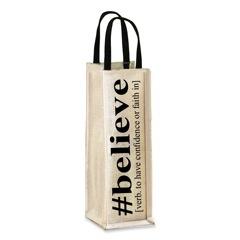"""BELIEVE"" wine tote"
